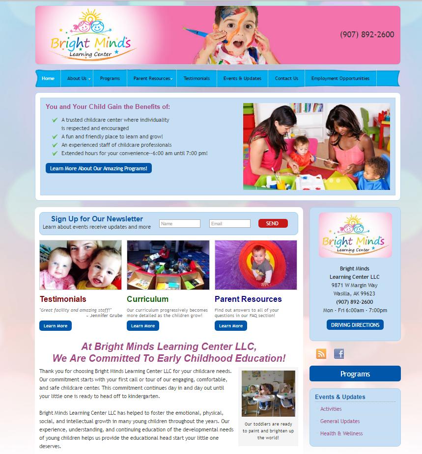 portfolio local child care marketing brightmindsalaska com
