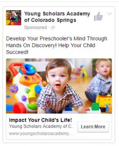 FB YSA Example Ad