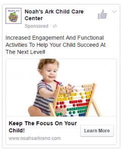 Noahs Ark FB Ad Example