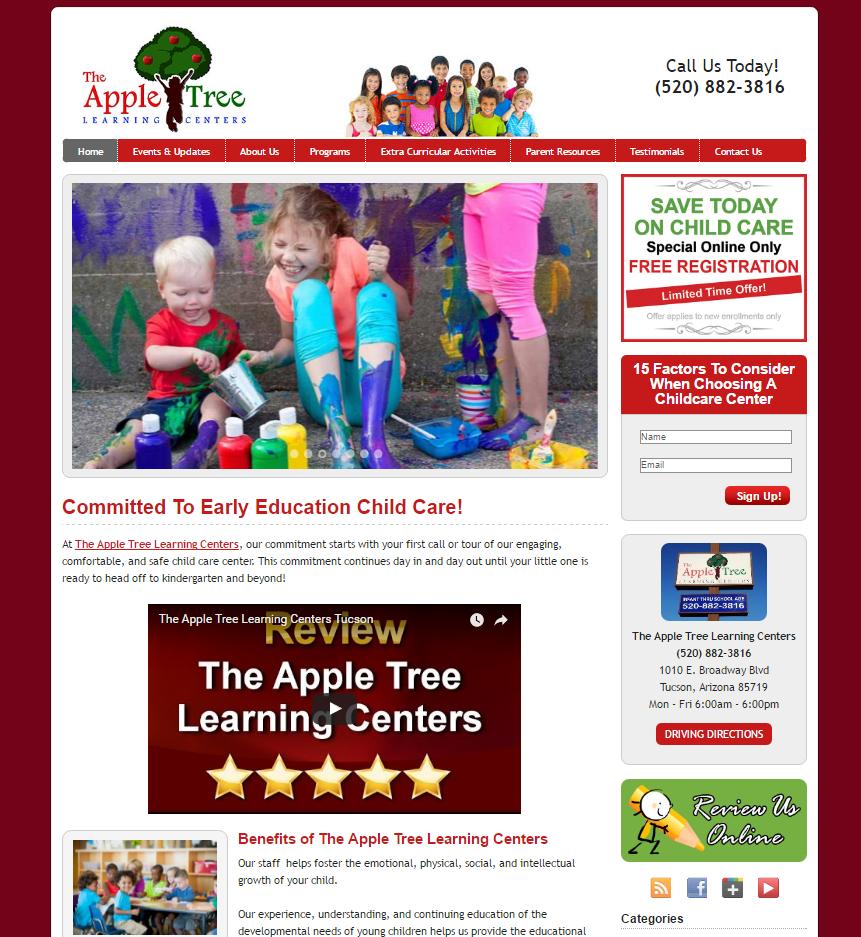 portfolio local child care marketing theappletreelearningcenters com