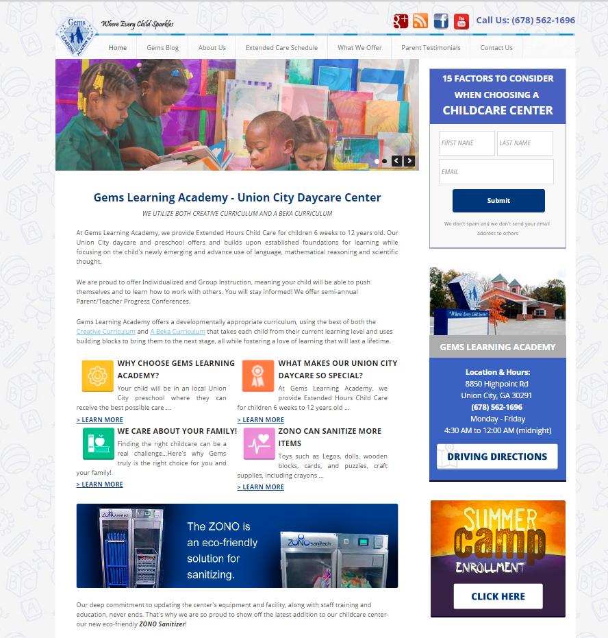 portfolio local child care marketing gemslearningacademy com