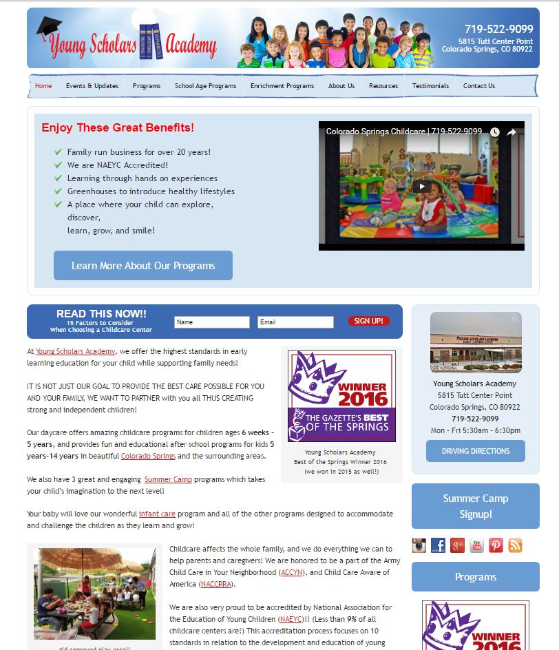 child care advertising