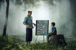 teaching a child