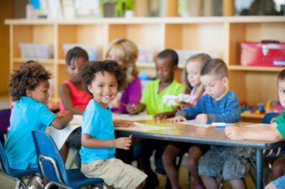 kids in a preschool class