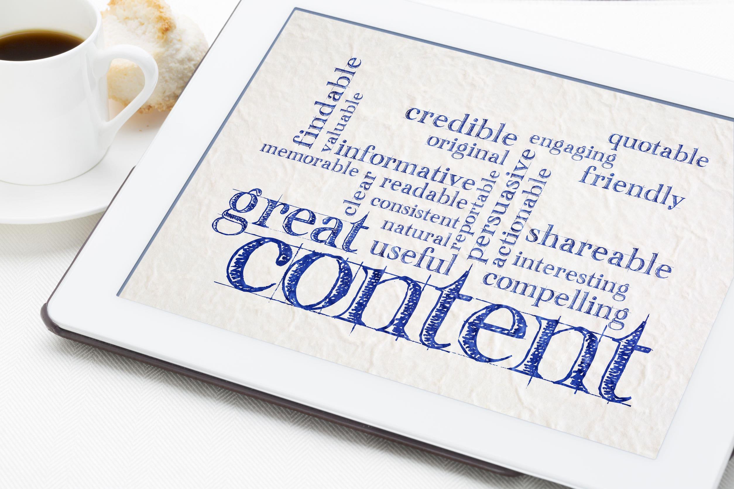 building new website content