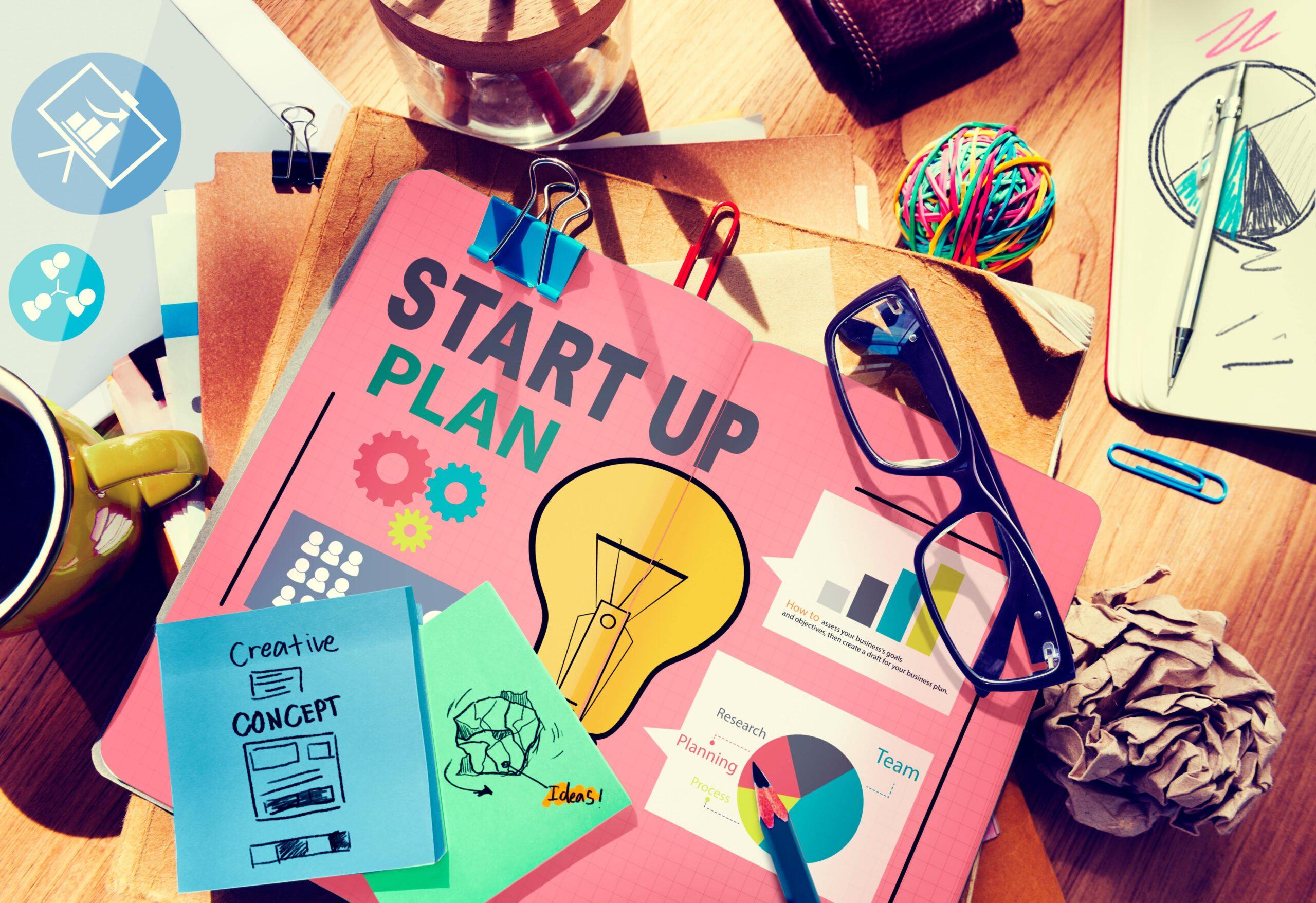 Startup Goals Growth Success Plan Business Plan Concept -