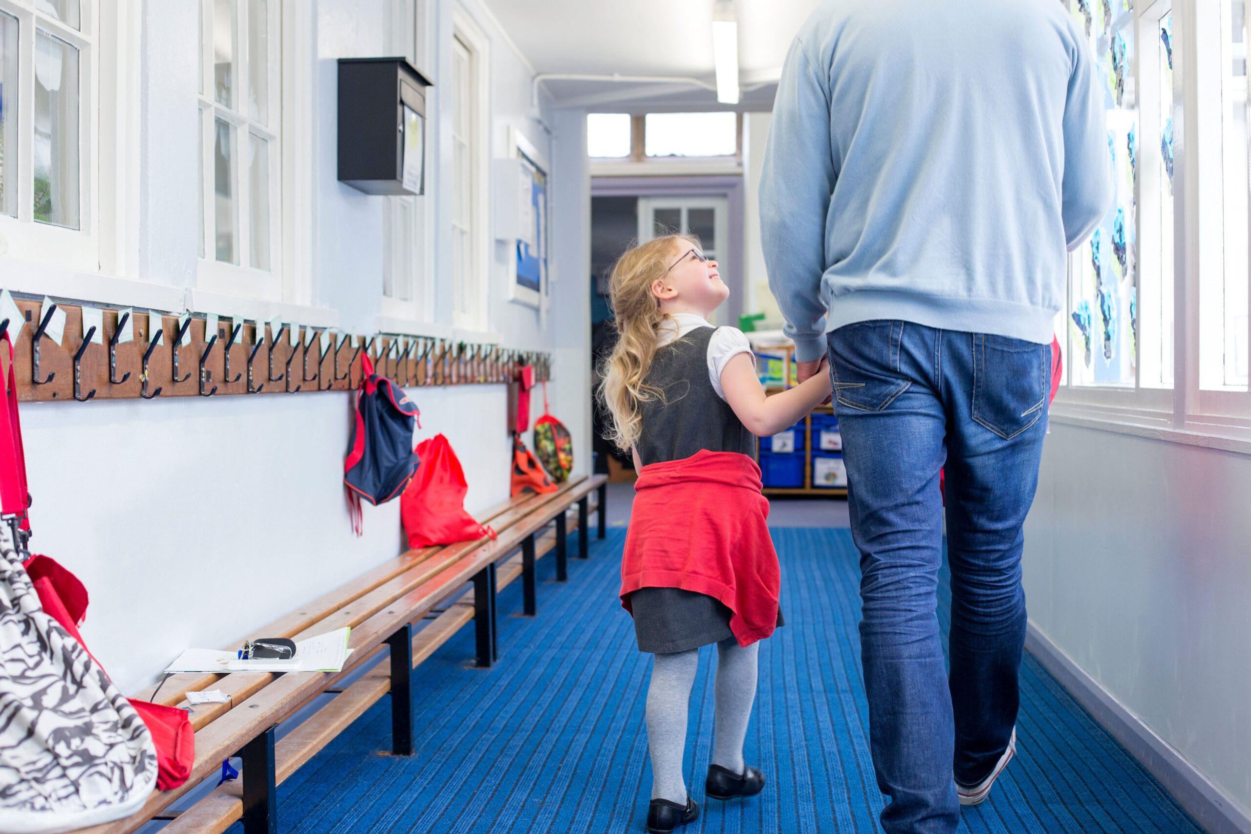 parent and child school tour