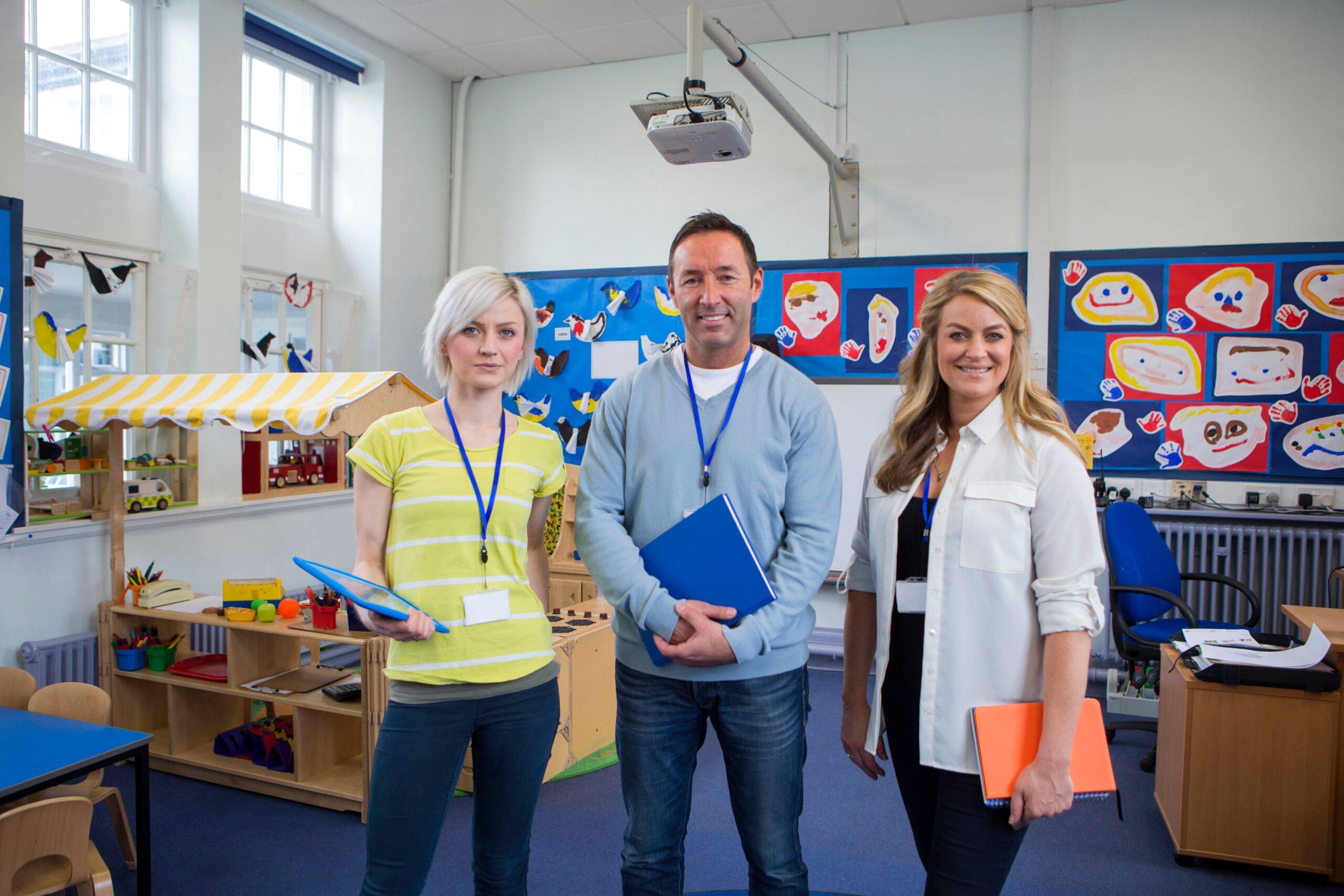 teachers in school tour